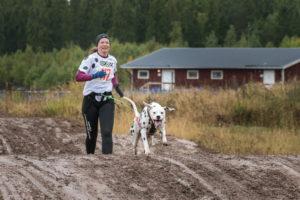 Christina Holm med Pastis. Vinnare i damer veteran, grupp B. Foto: Torbjörn Jonsson.